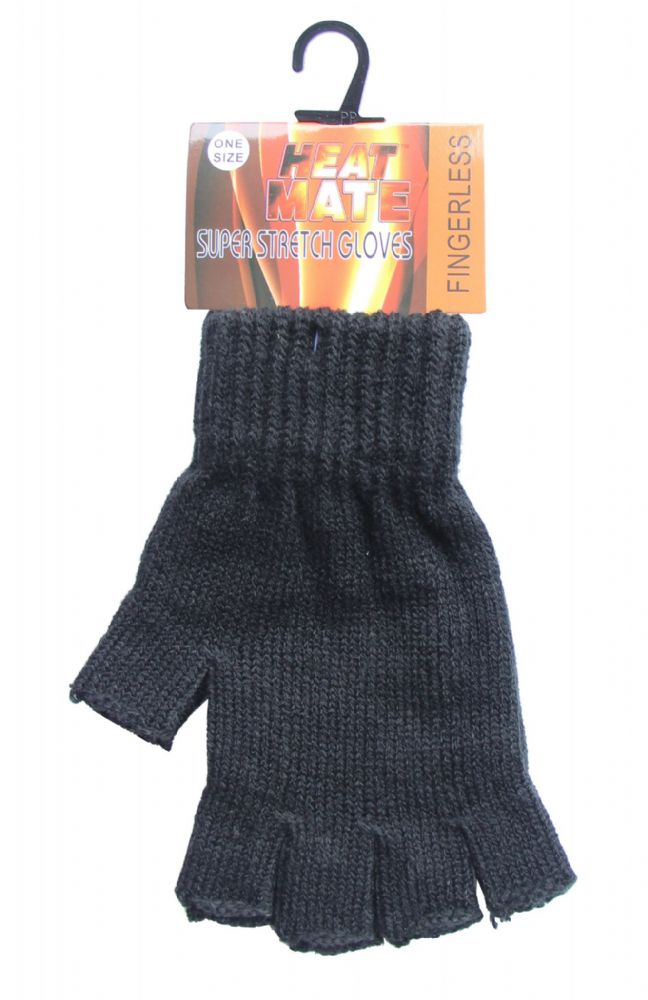 Fingerless Heat Maxx Magic gloves one size fits all GL5310-BLACK